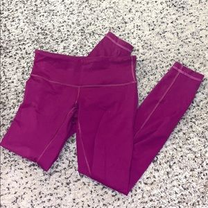 Lululemon Magenta Wunder Under Normal/Mid Rise